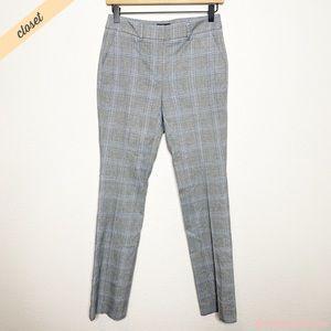 [WHBM] Gray Plaid The Slim Trouser Career Pants